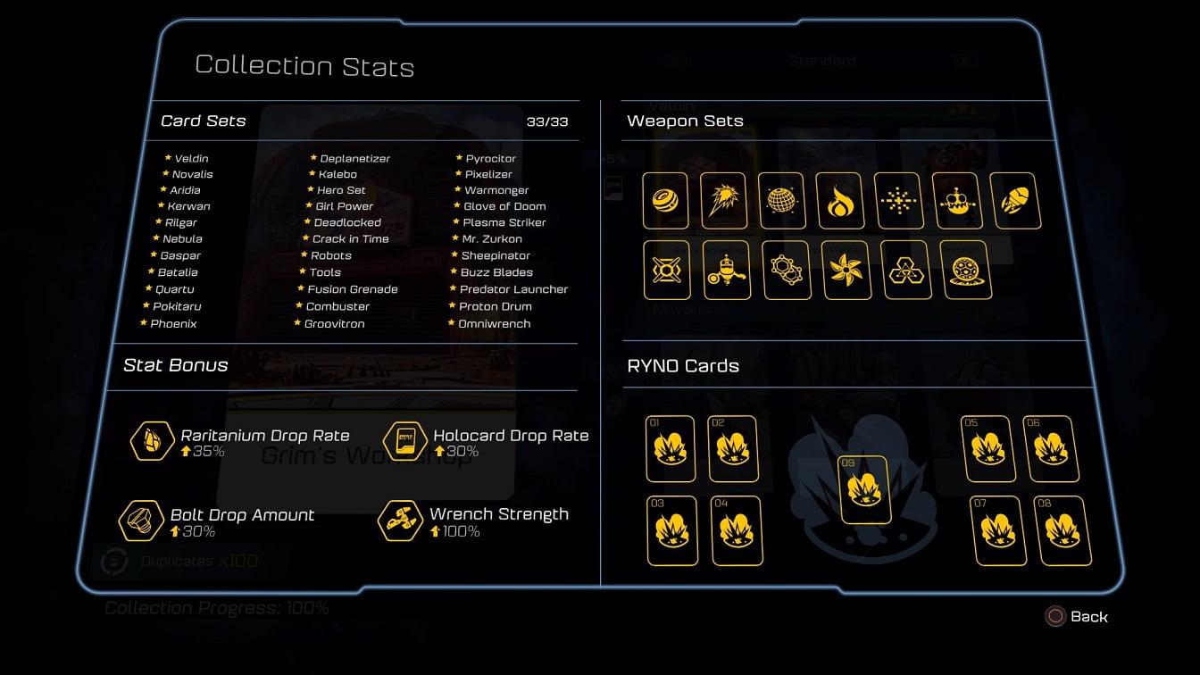 PS4「ラチェット&クランク THE GAME」 攻略 ホロカードコレクション