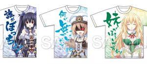「ネプテューヌ」 四女神フルグラフィックTシャツやマフラータオルが発売決定!