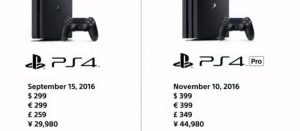 4K対応高性能「PS4 Pro」発売決定!価格は44980円…やっす!!