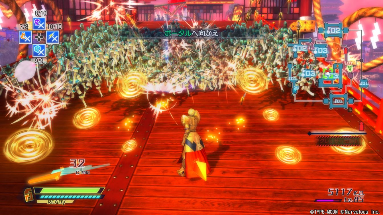 Fate/EXTELLA フェイト/エクステラの次回作制作中!サーヴァントのアクションに力に力を入れたゲームに