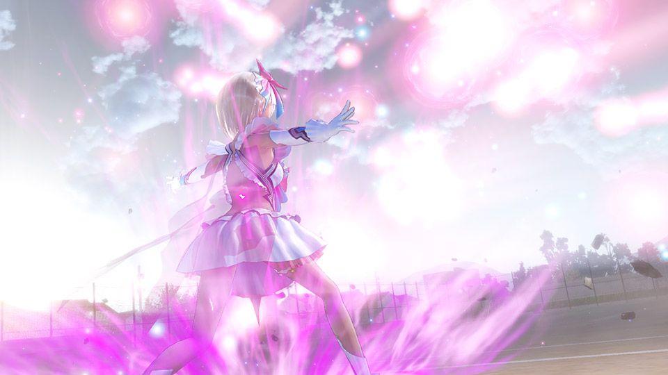 ブルーリフレクション ブルーリフレクション 戦闘はコマンドバトル、現実世界の仲間をサポートとして設定するこも可能!