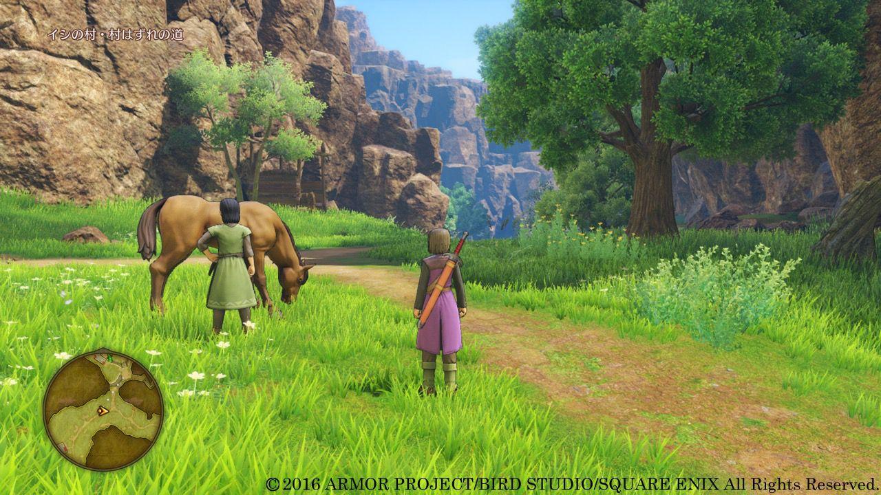 DQXI DQ DQ11、3DS版とPS4版の比較としても使える公式スクショ!主人公、エマ、カミュを紹介!