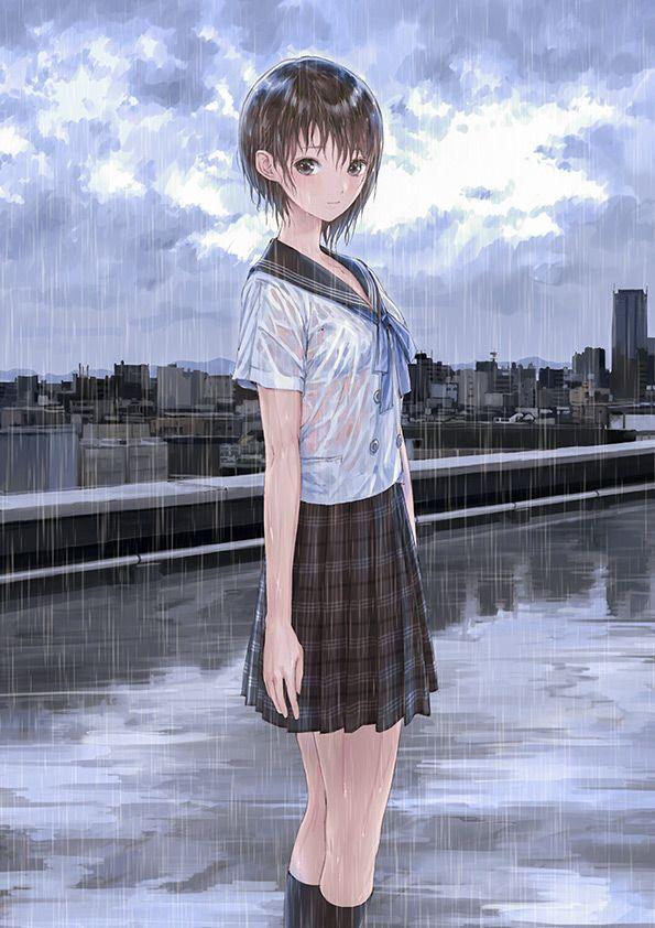 ブルーリフレクション 「ブルーリフレクション」 雨の日は濡れ透けあり!お風呂ではパワーアップも見込める!