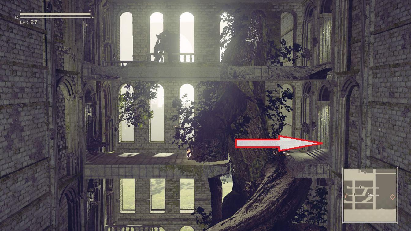 ニーア オートマタ ニーア 【攻略】ニーアオートマタ 「お城の宝探し」宝場所、扉の場所とか