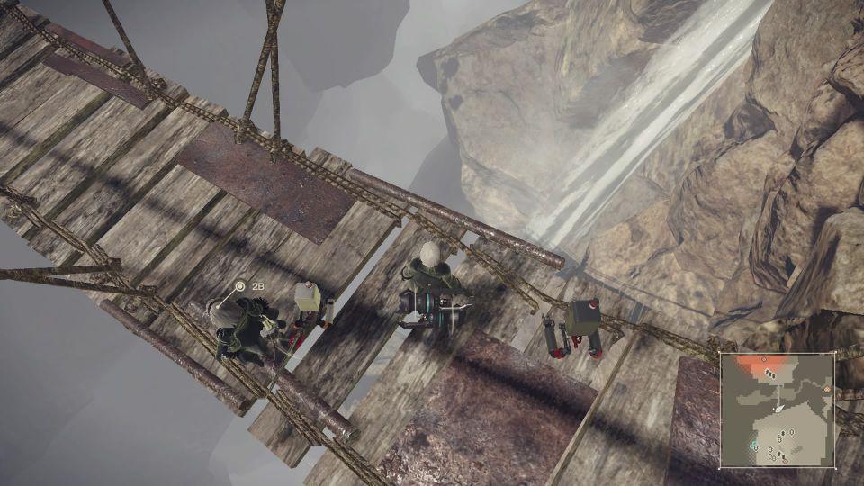 ニーア オートマタ, ニーア ニーアオートマタ、谷底に落下して上がれなくなった!高度を維持したまま遠くまでジャンプする方法とか