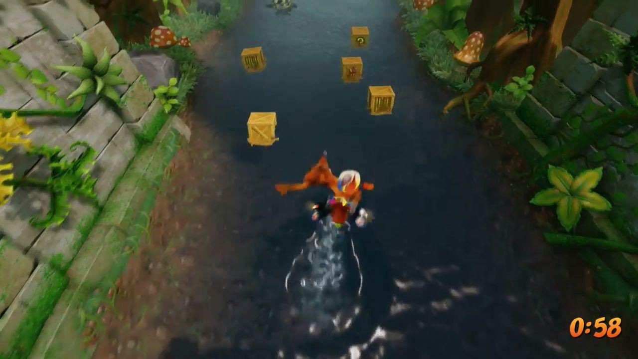 クラッシュバンディクーPS4 HDリマスター版「クラッシュバンディクー2」テケテケかわのぼりのプレイ動画!グラフィック綺麗すぎ