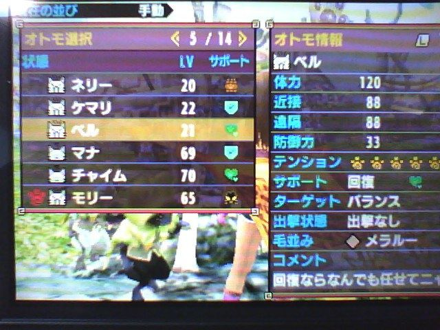 MHXX MHXX ニャンター(オトモアイルー)Lv99目指して【レベル上げ】ネコ嬢さんのポーチ
