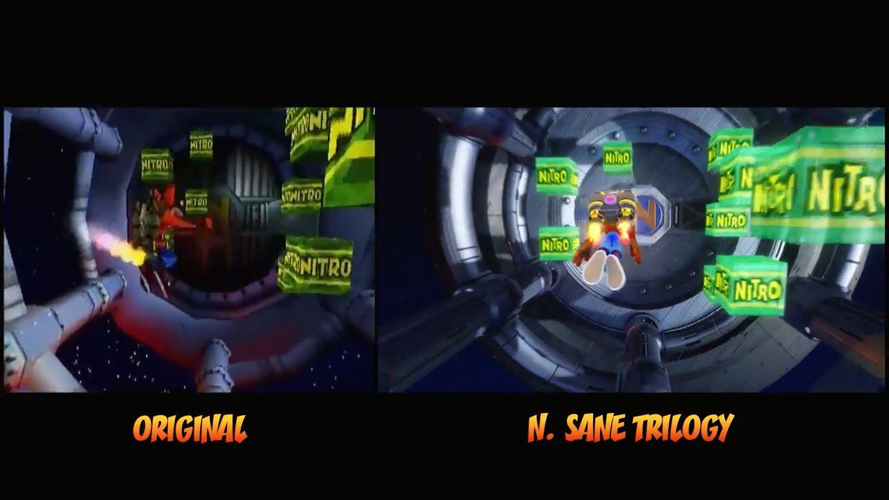 クラッシュバンディクーPS4 クラッシュバンディクーHD「にげろやパパぐま」「ロケットでいこう」比較動画、素晴らしい!