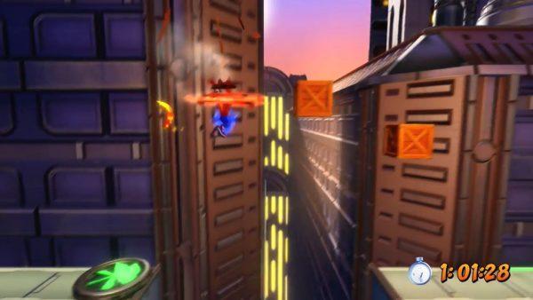 クラッシュバンディクーPS4 クラッシュ3HD「まてんロードの ベルトウェイ」公式プラチナトロフィー入手プレイ動画