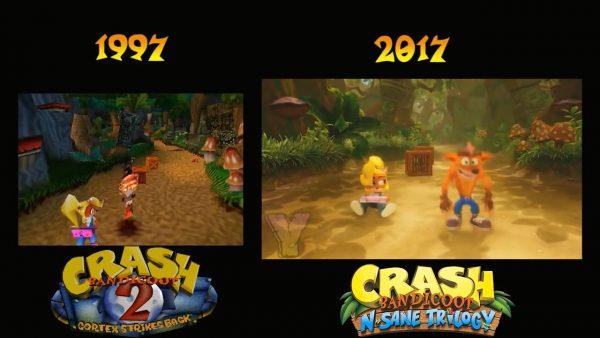 クラッシュバンディクーPS4 「クラッシュ・バンディクー ブッとび3段もり!」オープニング比較動画、PS4になってここまで違う