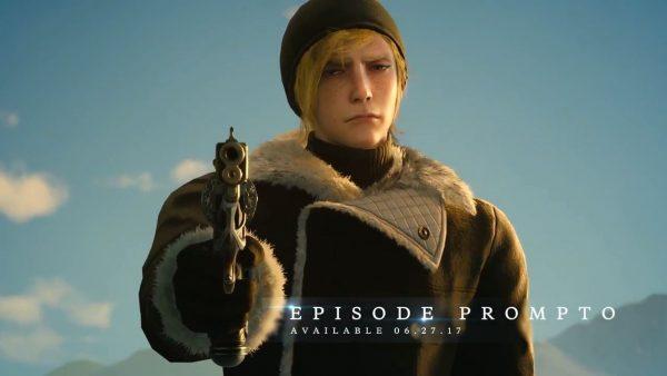 FF15 「FF15 ユニバース」動画。エピソードプロンプトはTPSシューティングゲームに!