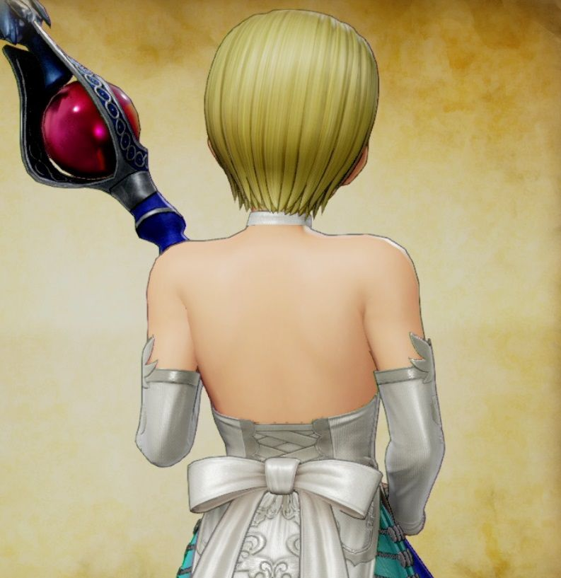 背中, セーニャ, DQXI ドラクエ11聖女装備「セーニャ」の背中が隠れエロすぎると話題に