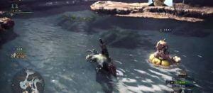 モンハンワールド「網を使って魚採取」「リオレウス戦」「アイルーの浮輪が癒し」などのプレイ動画