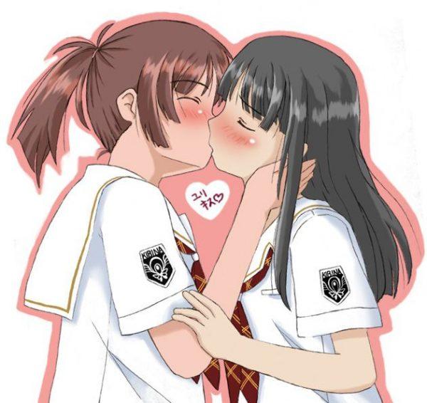 女の子, レズ, キス 女の子と女の子がキスしているシーンってなんかいいよな!