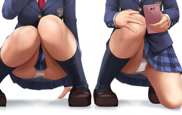 パンツ, しゃがみ パンツはしゃがみで少し見えるくらいが一番エロい【画像多め】