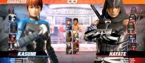 DOA6キャラクターセレクト画面含むプレイ動画、コスチューム3種類が色違いなんですけど!