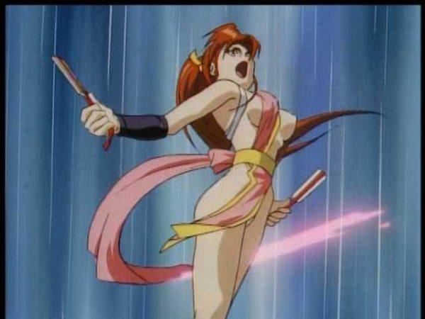 乳輪, 不知火舞, おっぱい アニメで見える不知火舞の巨大乳輪おっぱいエロシーン大好き【KOF】