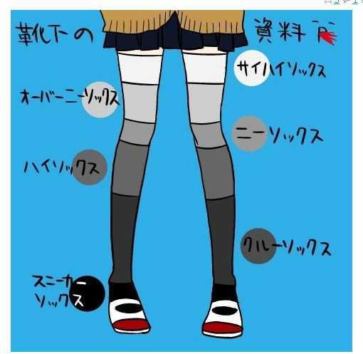靴下, ニーハイ ニーハイ履いている女の子って二次元にしかいなくね?