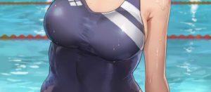 こういう競技水着みたいなやつの着方って。