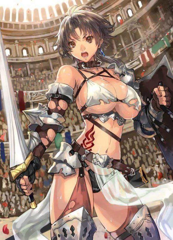 臭い, 女剣士 戦う、女剣士はちょっと臭くてエロいくらいが丁度よい。