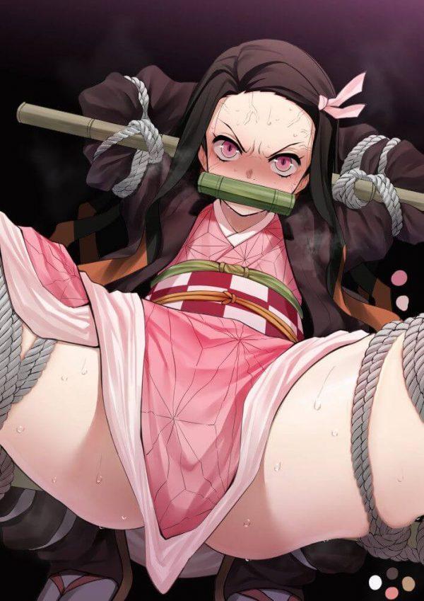 鬼滅の刃, 竈門禰豆子, 睨まれたい, ねずこ 身動き取れないねずこに超睨まれたい!そうは思いませんか?【鬼滅の刃】