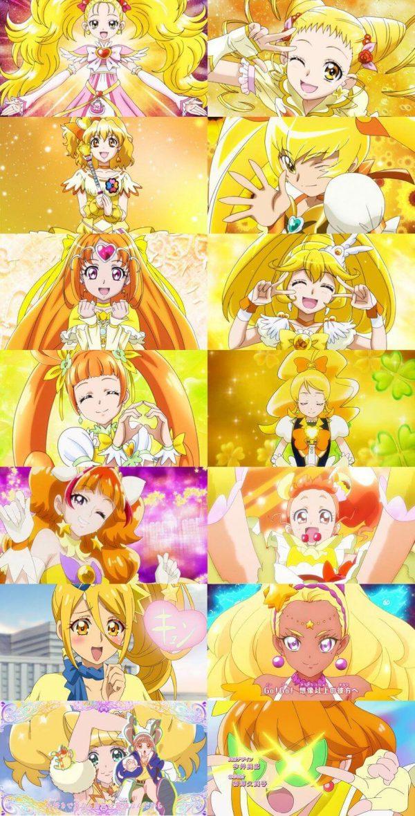 黄色, プリキュア 黄色いプリキュアってこんなにいるんだな。みんなかわいい!